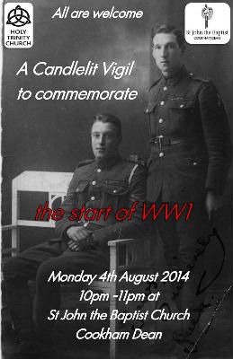 Poster for 4th August commemoration of WWI
