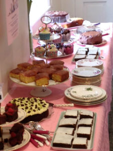 cakes and tea cups
