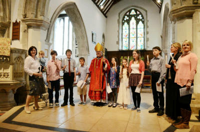 2012 Confirmation group with Bishop Andrew