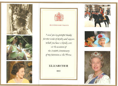 thank you from Buckingham Palace