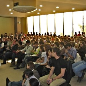 A conference in Romania - standing room only