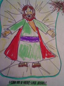 child drawing of Jesus
