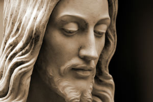 stone face of Jesus