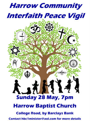 Peace vigil poster 28 may