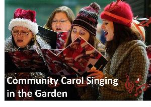 Carol singing in garden