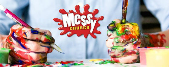 new messy church banner