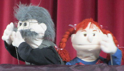 messy church puppets
