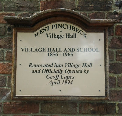 Village Hall Sign: Photo S. Nottingham