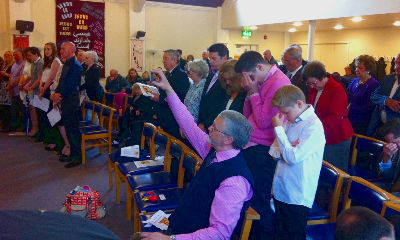 Congregation prays
