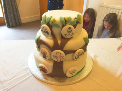 Special cake for our Vicar Rev'd Chris
