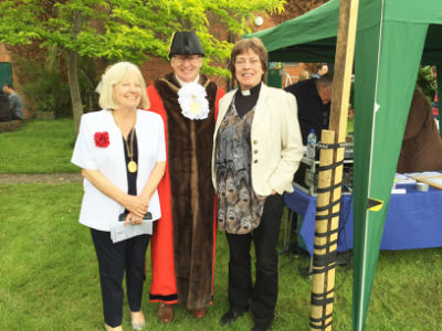 Mayor, Lady Mayoress and our Priest