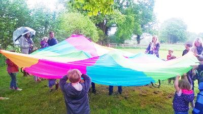 Fun outdoors - Messy Church
