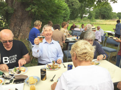 Cheers Damion at the Church Helpers Picnic