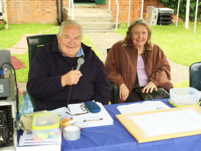 Charles and Julia in the Information Tent