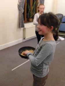 Pancake race - children 2