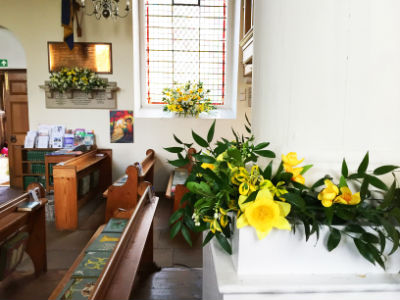 Spring in church - stations of the cross