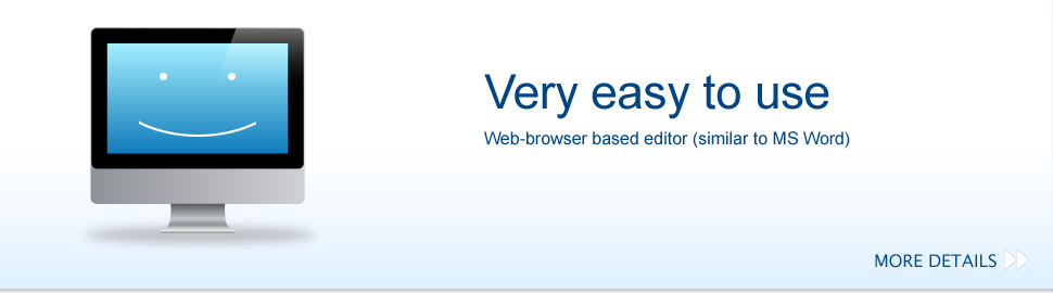 Very easy to use. Web-browser based editor.