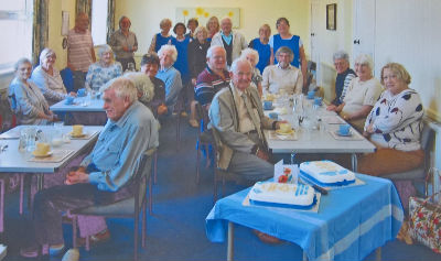 Diners and staff at 50th anniversary