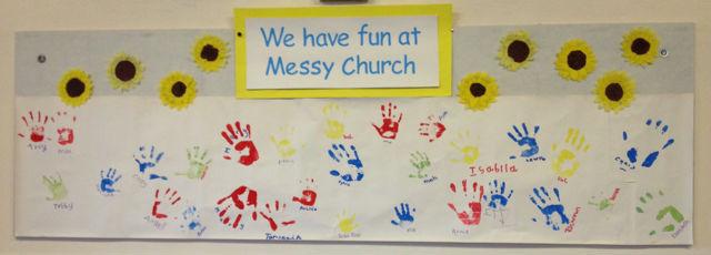 Messy Church Banner 18 April 17