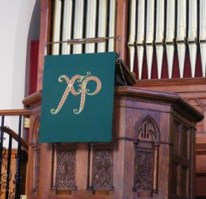 Altar fall created by Sheila Turnbull