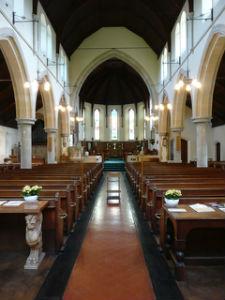Interior of St Lukes church TW