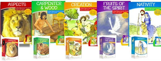 Bible activity books and games