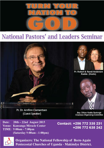 Poster National Seminar for Pastors and Church Leaders