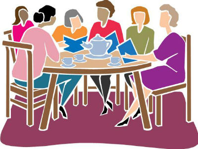 Six Ladies at a Table