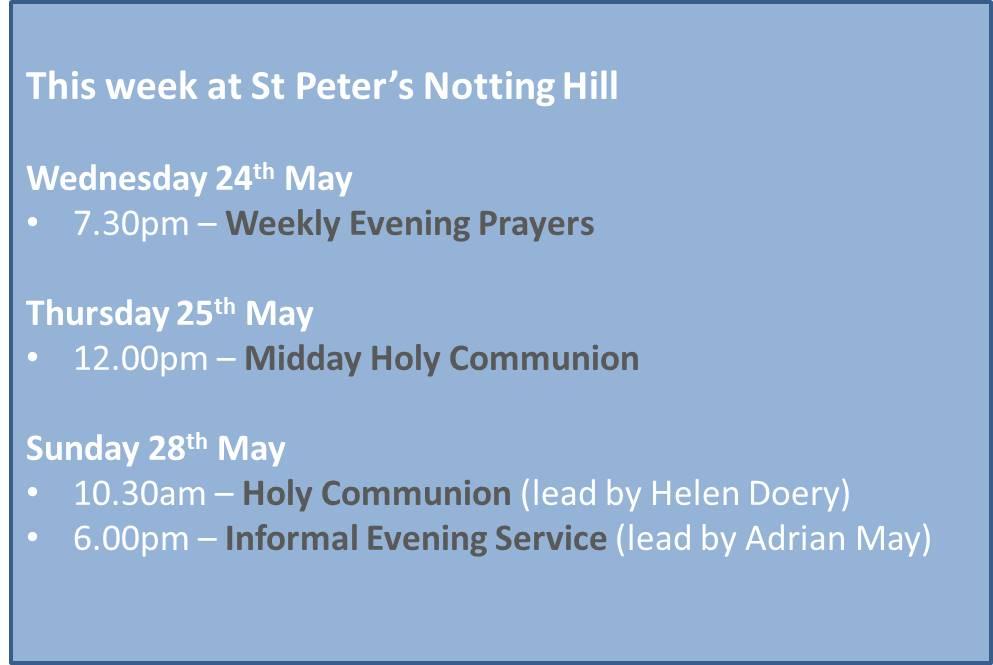 This week at St Peters 220517