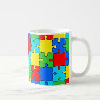 Coffee Mug with jig saw logo