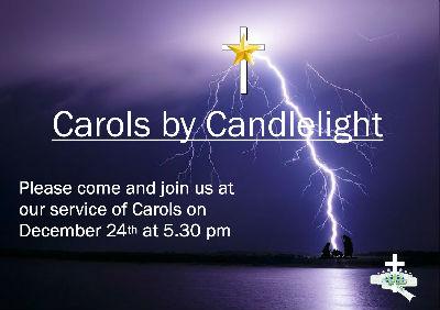 Carols by Candlelight invitation 2017