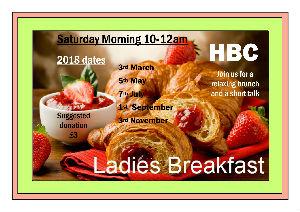 Ladies Breakfast 2018 dates