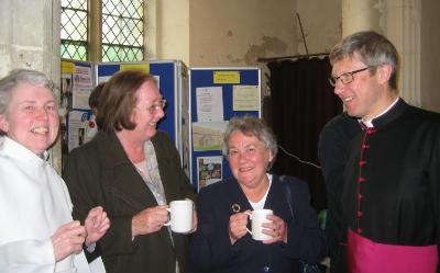 Dean with Brigid, Denise, Gill