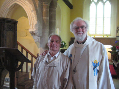 Dr Rowan Williams with Peter