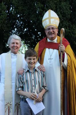 Jacob with Brigid and Bishop Stephen