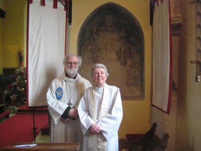 Dr Rowan Williams with Brigid