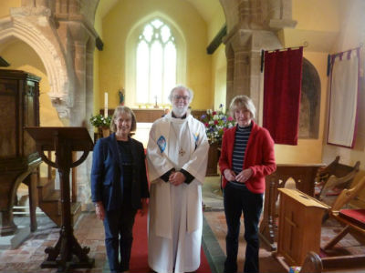 Rosemary and Janet with Dr Rowan Williams