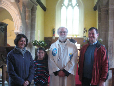 Dr Rowan Williams with Paru, Alastair and Lucy