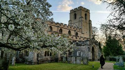 Harston Church in Spring
