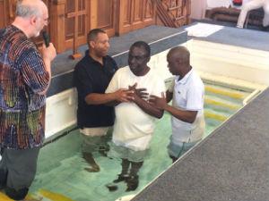 Pauls Kasozi baptism 3rd July 2016