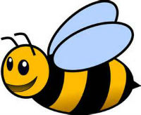 cartoon picture of Arby the bee
