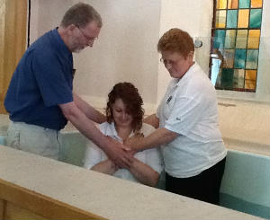 just before being baptised