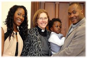 Baptism family  minister