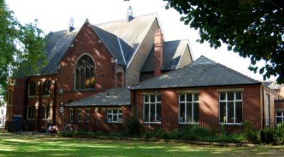 dappled church
