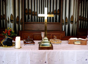 Sacrament on the altar
