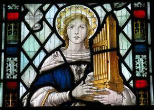 St.Cecilia stained glass