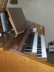 Side of Organ  rest plate