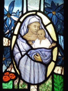 Black Madonna Staioned glass window