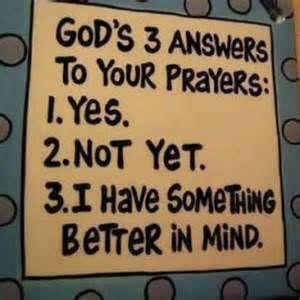 GOds answer top opur prayers