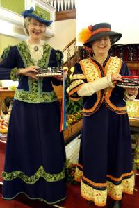 Glynda and Ann on tambourines